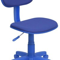 Blue Fabric Swivel Task Office Chair [BT-698-BLUE-GG]