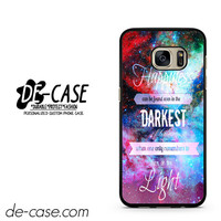 Harry Potter Quote In Galaxy Nebula DEAL-5134 Samsung Phonecase Cover For Samsung Galaxy S7 / S7 Edge