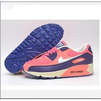 NIKE AIR MAX 90 fashion ladies men running sports shoes sneakers F-PS-XSDZBSH Pink and purple