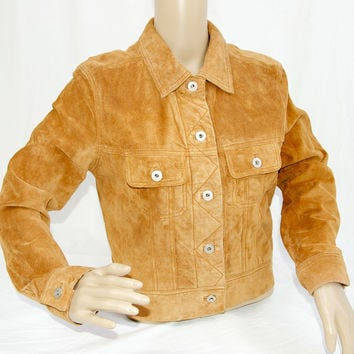 Butterscotch Suede Leather Jacket by Express
