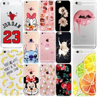 Soft Phone Cover For Coque iphone 6 Case 23 Jordan Donut Printed Silicone TPU Thin Shell Funda For iphone 5 se 5s 6s 7 8 7plus