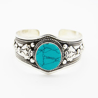 NEPALESE SILVER ➳ TURQUOISE CUFF BRACELET