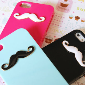 IPHONE 5 Mustache Candy Colors Rainbow Cell Phone Case