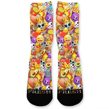 Emoji Mania Custom Athletic Fresh Socks