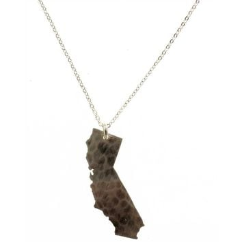 California State Necklace - Sterling Silver