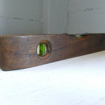 Antique, Wood, Torpedo, Level, Tool, RhymeswithDaughter