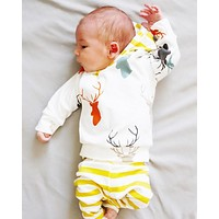 2pcs Toddler Baby Girls Boys Clothes