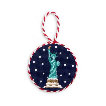 Snowy Statue of Liberty Needlepoint Ornament by Smathers & Branson