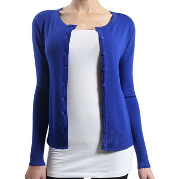 Round Neck Knit Cardigan (CLEARANCE)