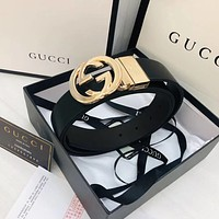 GUCCI GG leather belt