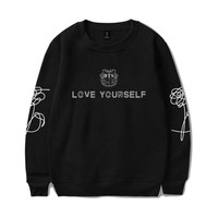 BTS kpop Bangtan Boys Round Neck Sweatshirt Women/Men Hoodies Autumn Korean Popular Women Hoodies Sweatshirt  Female Clothes