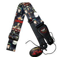 Classics Reminiscence Electric Guitar Strap The BEATLES Print Nylon Fabric Bass Strap Belt