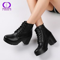 Platform Heels Women  Soft Leather Boots