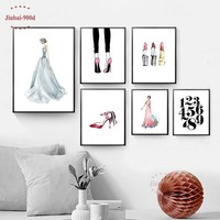 900D Posters And Prints Wall Art Canvas Painting Poster, wall pictures for Girls Room Wall Art Decor Decoration Pictures NOR094