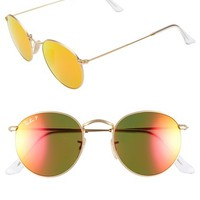 Women's Ray-Ban 50mm Round Polarized Sunglasses