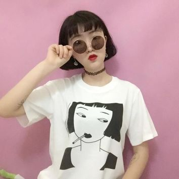 Smoking Girl T-Shirt