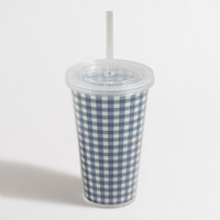 Factory tumbler with straw