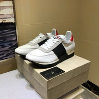 Moncler Men's Leather Fashion Low Top Sneakers Shoes