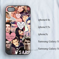 British Youtubers collage iPhone Case, iPhone 4/4s Case, iPhone 5/5s case,iPhone 5c case,samsung galaxy s3/s4/s5