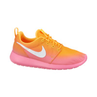 Women's Roshe Run Nike Print Shoe Size 10 (Yellow)