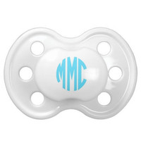 Monogrammed Personalized Pacifier Baby Gift