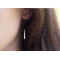 Spiked Bar Earrings