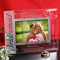 Bridesmaid Glass Picture Frame