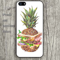 Abstract pineapple food iphone 6 6 plus iPhone 5 5S 5C case Samsung S3,S4,S5 case Ipod Silicone plastic Phone cover Waterproof A0556