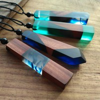 Handmade Resin Wood Necklace