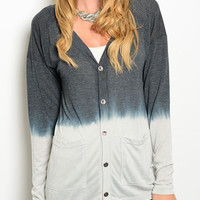 Evelyn Ombre Button Down Cardigan