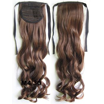 Curly synthetic hair extension,Ribbon ponytail synthetic hair extension Clip In on Hair Pony,Wavy Hairpiece,woman wigs,wig hairs,Accessories,Bath & Beauty RP-888 M4/30