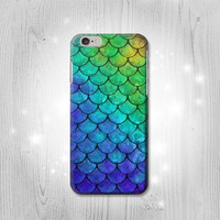 Mermaid Fish Scale iPhone 6S 6 Plus 6+ SE 5 5S 5C 4 Htc One M8 M7 Samsung Galaxy S7 S6 Edge+ S5 S4 S3 mini Note 5 4 3 Case