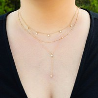 Michelle Layered Y Necklace