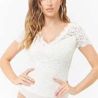 Scalloped Lace Bodysuit