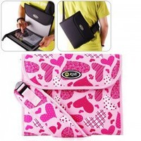 Stylish Hearts Style Ultra-thin Shoulder Outdoor Activity Bag for The New iPad/iPad 2/Tablet PC