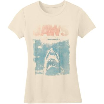 Jaws  Fade Junior Top Vintage White