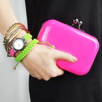 Candy-colored Clutch Bag