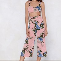 Take It to the Floral Bra Top and Culotte Set