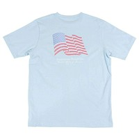 USA Flag Tee in Light Blue by Southern Point Co.