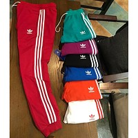 ADIDAS clover 2018 spring and summer couple models wild sports pants F-XMCP-YC red