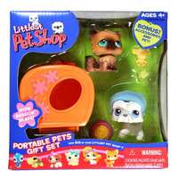 Littlest Pet Shop Exclusive Portable Pets Gift Set with Kitten & Scottish Terrier