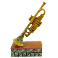 Jim Shore MINI TRUMPET Resin Music Instrument 4033811