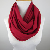 Large Red Infinity Scarf - Oversized Scarf - Red Chunky Scarf