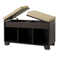 Real Simple® Split-Top Bench Storage Unit in Espresso