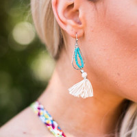 Esme Turquoise Tassel Earrings
