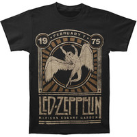 Led Zeppelin Men's  Madison Square Garden T-shirt Black Rockabilia