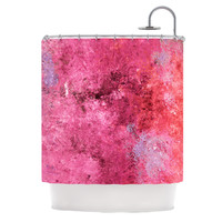"CarolLynn Tice ""Cotton Candy"" Red Pink Shower Curtain"