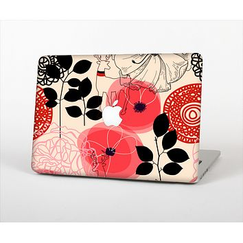 "The Pink Nature Layered Pattern V1 Skin Set for the Apple MacBook Pro 15"" with Retina Display"