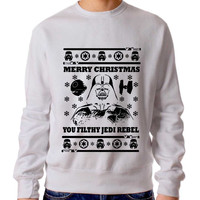 Freshrags Star Wars Parody Vader Ugly Christmas Sweater Man And Sweater Woman