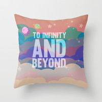 to infinity and beyond.. toy story.. buzz lightyear Throw Pillow by studiomarshallarts